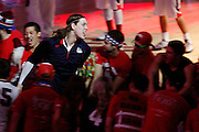 Junior Kelly Olynyk is greeted by the Kennel Club tunnel as he heads onto the court.