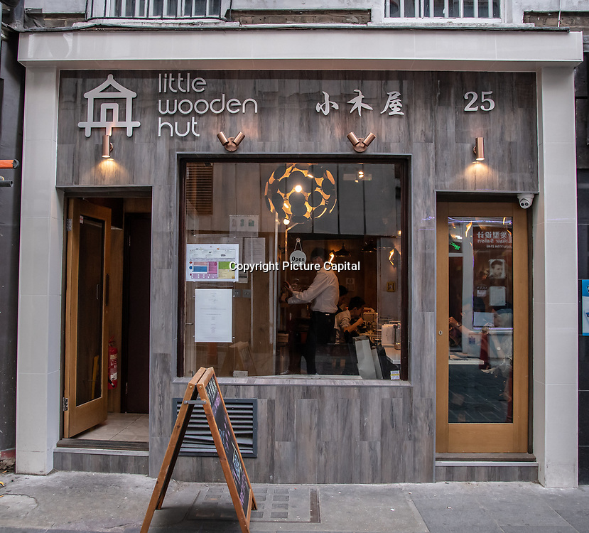 Little Wooden hut in London Chinatown Sweet Tooth Cafe and Restaurant at Newport Court and Garret Street on 15 June 2019, UK.