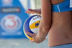 Ball at A1 Beach Volleyball Grand Slam presented by ERGO tournament of Swatch FIVB World Tour 2012, on July 18, 2012 in Klagenfurt, Austria. (Photo by Matic Klansek Velej / Sportida)