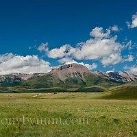 ear mountain, russel country, montana, usa,