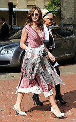 Trinny Woodall arriving at  Poppy Delevigne's wedding at St.Paul's Church in Knightsbridge, London , Friday, 16th May 2014. Picture by Stephen Lock / i-Images