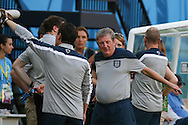 England manager Roy Hodgson looks on during the England open training session at Arena da Amazonia, Manaus, Brazil. <br /> Picture by Andrew Tobin/Focus Images Ltd +44 7710 761829<br /> 13/06/2014