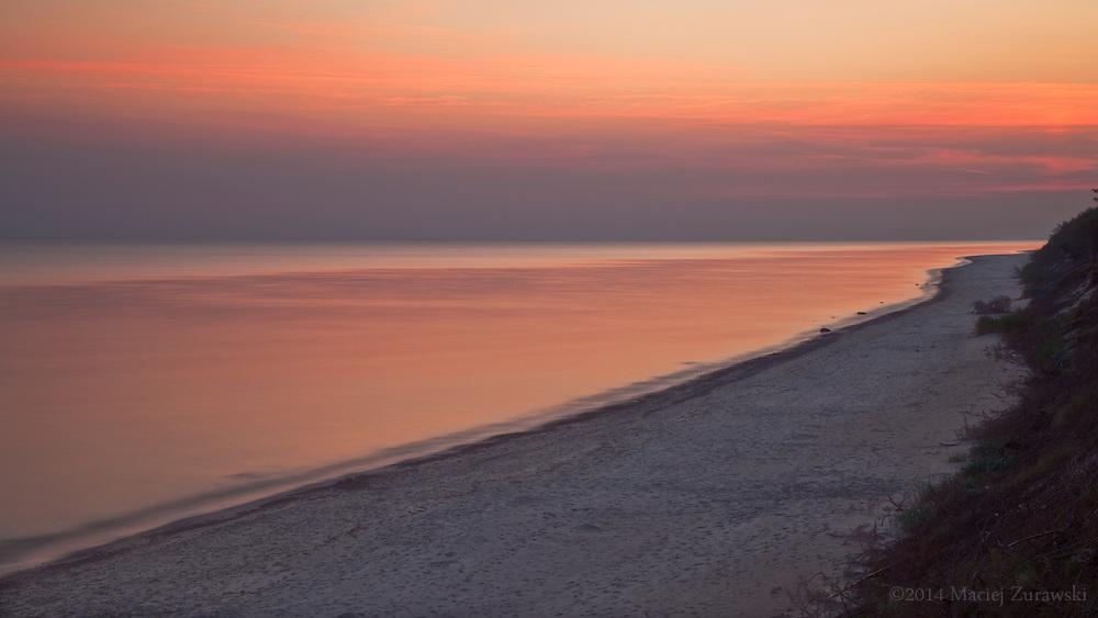 Dawn at the Baltic Sea.