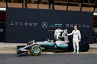 ROSBERG Nico (ger) Mercedes GP MGP W07 ambiance portrait HAMILTON Lewis (gbr) Mercedes GP MGP W07 ambiance portrait  during Mercedes W07 launch at  Barcelona, winter tests, Spain,  February 22, 2016 - Photo Florent Gooden / DPPI