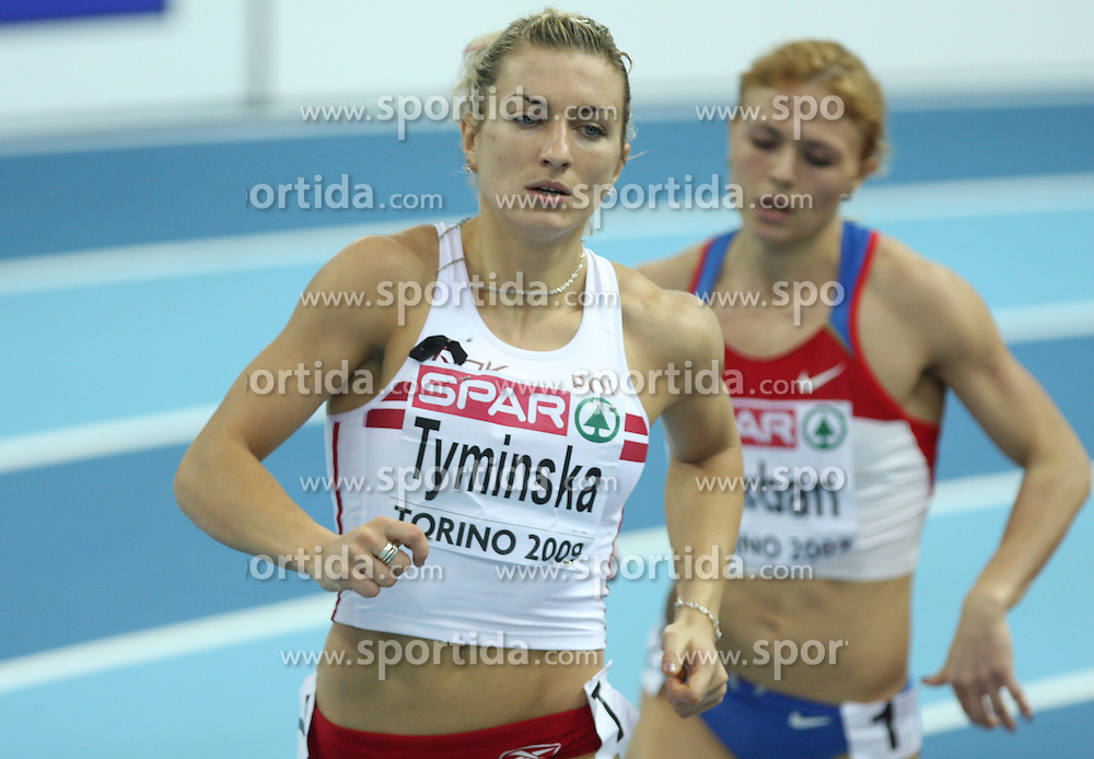 Karolina Tyminska of Poland at pentathlon run at the 1st day of  European Athletics Indoor Championships Torino 2009 (6th - 8th March), at Oval Lingotto Stadium,  Torino, Italy, on March 6, 2009. (Photo by Vid Ponikvar / Sportida)