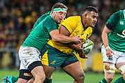 Rob Herring of Ireland tackles Taniela Tupou of the Australian Wallabies during the Australian Wallabies vs Ireland second Mitsubishi Estate test match at AAMI Park, Melbourne, Australia on 16 June 2018. Picture by Martin Keep.