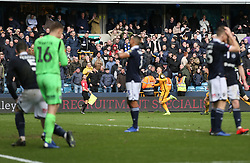 Solly March of Brighton and Hove Albion celebrates scoring to make it 2-2 - Mandatory by-line: Arron Gent/JMP - 17/03/2019 - FOOTBALL - The Den - London, England - Millwall v Brighton and Hove Albion - Emirates FA Cup Quarter Final