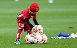 A young Bristol City fan is invited onto the pitch at Oakwell to help collect footballs for the warm up - Mandatory by-line: Robbie Stephenson/JMP - 29/10/2016 - FOOTBALL - Oakwell Stadium - Barnsley, England - Barnsley v Bristol City - Sky Bet Championship