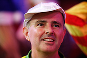 Darts fan in fancy dress, jockey, during the Darts World Championship 2018 at Alexandra Palace, London, United Kingdom on 18 December 2018.