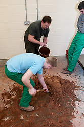 Prisoners in a YOI learning building skills, HMYOI Wetherby