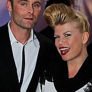 NLD/Amsterdam/20100412 - Premiere film de Gelukkige Huisvrouw, Annemarie Jung en partner Burt Rutteman