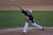 West Deptford's Keith Wallace pitches during the opening round of the Mid-Atlantic Senior League regional tournament held in West Deptford on Friday, August 5.