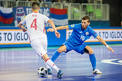 Chingiz Yessenamanov of Kazakhstan during futsal match between Kazakhstan and Spain in Semifinals of UEFA Futsal EURO 2018, on February 8, 2018 in Arena Stozice, Ljubljana, Slovenia. Photo by Ziga Zupan / Sportida