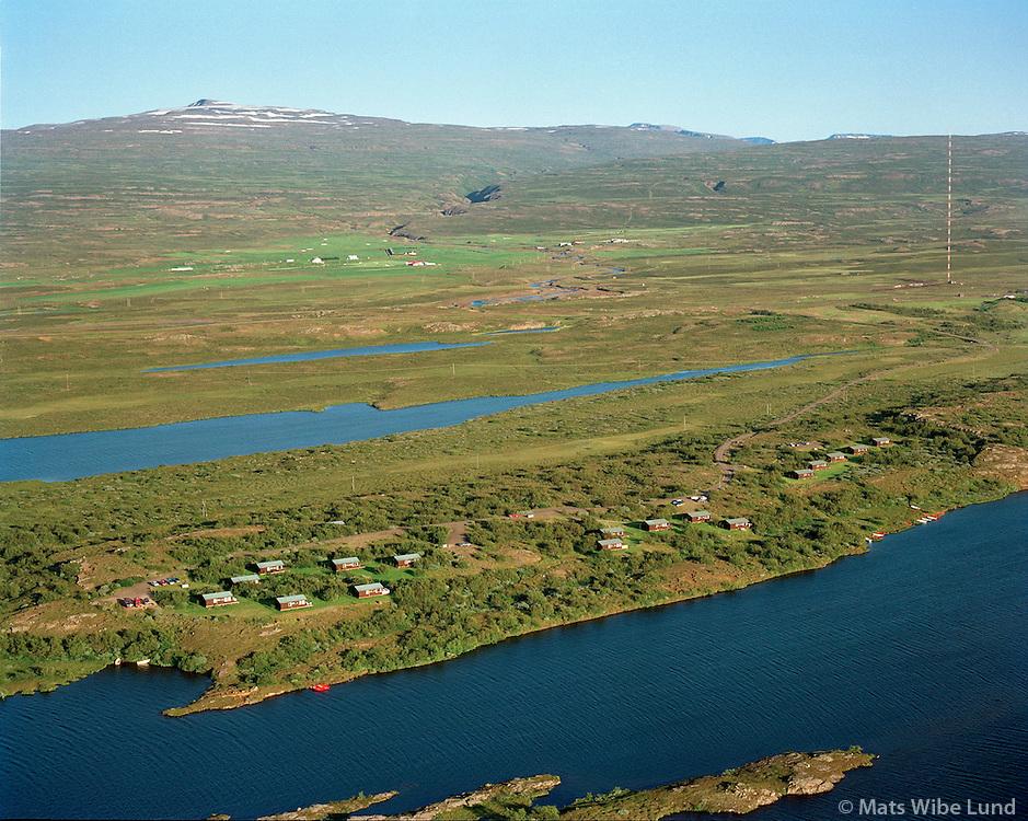 Eiðar orlofshús BSRB,  Eiðavatn, 1998, Loftmynd..Eidar holiday homes for BSRB, lake Eidavatn. Aerial.