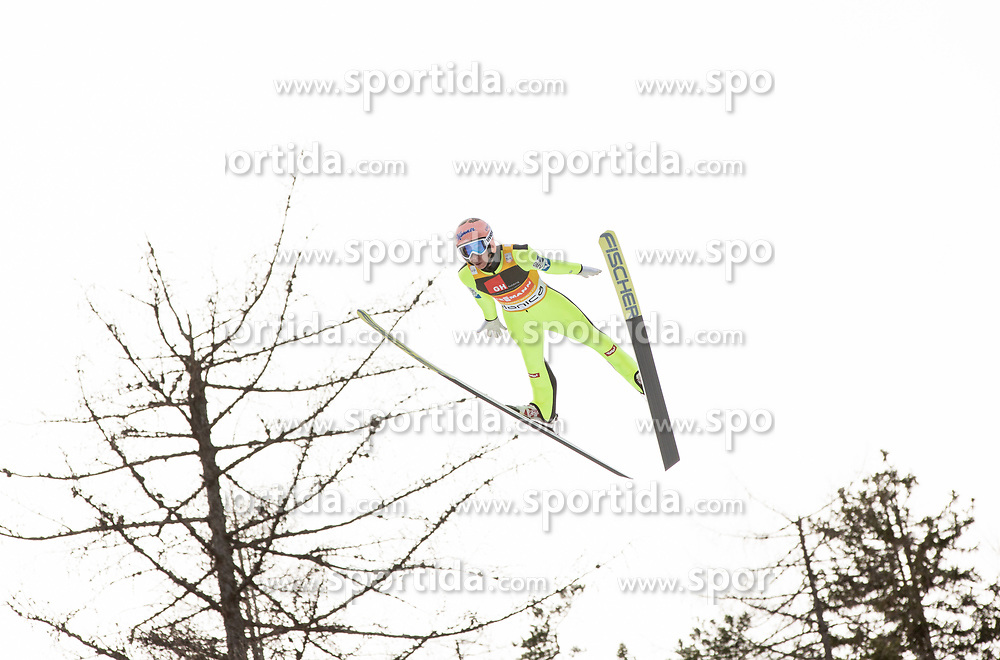 Stefan Kraft of Austria soaring through the air during the Ski Flying Hill Individual Competition on Day Two of FIS Ski Jumping World Cup Final 2017, on March 24, 2017 in Planica, Slovenia. Photo by Vid Ponikvar / Sportida