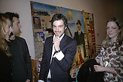 Henry Hemming, Misadventure In the Middle East. Travels As a Tramp, Artist and Spy by Henry Hemming. Book launch and exhibition. Paradise Row. London. E2.  -DO NOT ARCHIVE-© Copyright Photograph by Dafydd Jones. 248 Clapham Rd. London SW9 0PZ. Tel 0207 820 0771. www.dafjones.com.