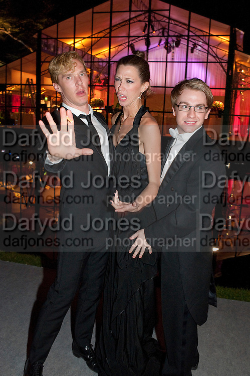 BENEDICT CUMBERBATCH; MARGOT STILLEY; STEVIE WEBB, Evgeny Lebedev and Graydon Carter hosted the Raisa Gorbachev charity Foundation Gala, Stud House, Hampton Court, London. 22 September 2011. <br /> <br />  , -DO NOT ARCHIVE-© Copyright Photograph by Dafydd Jones. 248 Clapham Rd. London SW9 0PZ. Tel 0207 820 0771. www.dafjones.com.