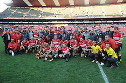 28-07-18 Emirates Airline Park, Johannesburg. Super Rugby semi-final Emirates Lions vs NSW Waratahs. The winning Lions team pose for a team photo.<br />  Picture: Karen Sandison/African News Agency (ANA)