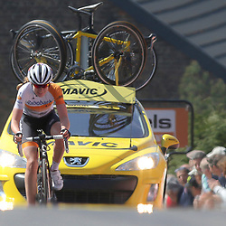 22-04-2015: Wielrennen: Waalse Pijl vrouwen: Huy  Huy (BEL) Cycling: The last European spring UCI Worldcup womenrace was the Fleche Walonne. A race in the Ardennes with two times the Mur de Huy as climb.<br /> Anna van der Breggen wint Waalse Pijl