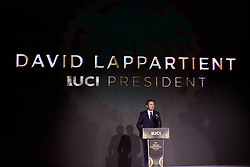 David Lappartient at UCI Cycling Gala 2019 in Guilin, China on October 22, 2019. Photo by Sean Robinson/velofocus.com