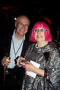 MICHAEL LYNCH; ZANDRA RHODES, The Hayward Gallery 40th birthday Gala. hayward Gallery. South Bank. 9 July 2008 *** Local Caption *** -DO NOT ARCHIVE-© Copyright Photograph by Dafydd Jones. 248 Clapham Rd. London SW9 0PZ. Tel 0207 820 0771. www.dafjones.com.