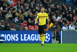 February 13, 2019 - London, England, United Kingdom - Borussia Dortmund midfielder Jadon Sancho during the UEFA Champions League match between Tottenham Hotspur and Ballspielverein Borussia 09 e.V. Dortmund at Wembley Stadium, London on Wednesday 13th February 2019. (Credit: Jon Bromley | MI News & Sport Ltd) (Credit Image: © Mi News/NurPhoto via ZUMA Press)