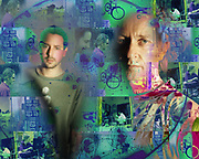 One Giant Leap photosession and digital art. Jamie Catto (Faithless founding member) and Duncan Bridgeman.