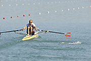 Banyoles, SPAIN, NOR M1X, Olaf TUFTE,  moves away from the start in his  heat of the men's single sculls during the FISA World Cup Rd 1. Lake Banyoles  Friday,  29/05/2009   [Mandatory Credit. Peter Spurrier/Intersport Images]