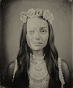 "Images from ""Vanitas Fair,"" a collection of tintypes investigating mortality through modern recreations of vanities, memento mori and nature morte paintings."