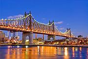 The 59th Street Bridge, Ed Koch Bridge, Queensboro Bridge and the East River, New York City.