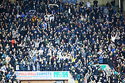 Leeds United fans during the EFL Sky Bet Championship match between Wigan Athletic and Leeds United at the DW Stadium, Wigan, England on 4 November 2018.