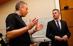 2/2/17 Finance Secretary Derek Mackay visits Howdenhall Police Station in Edinburgh ahead of the Stage One Budget Bill debate in Parliament. Supt Richard Horan is talking with Derek Mackay in this image.