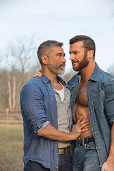 gay couple outdoors