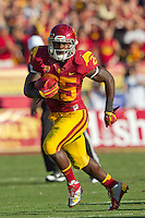 03 November 2012: Runningback (25) Silas Redd of the USC Trojans runs the ball against the Oregon Ducks during the first half of Oregon's  62-51victory over USC at the Los Angeles Memorial Coliseum in Los Angeles, CA.