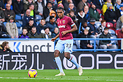 Issa Diop of West Ham United (23) in action during the Premier League match between Huddersfield Town and West Ham United at the John Smiths Stadium, Huddersfield, England on 10 November 2018.