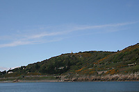 View of Killiney Hill in Dublin Ireland from the sea