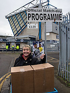 Programme seller during the FA Cup match at The Den, London<br /> Picture by Liam McAvoy/Focus Images Ltd 07413 543156<br /> 29/01/2017