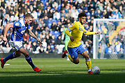 Leeds United forward Tyler Roberts (11)  during the EFL Sky Bet Championship match between Birmingham City and Leeds United at St Andrews, Birmingham, England on 6 April 2019.