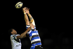 Dominic Day of Bath Rugby misses the ball at a lineout - Photo mandatory by-line: Patrick Khachfe/JMP - Mobile: 07966 386802 12/12/2014 - SPORT - RUGBY UNION - Bath - The Recreation Ground - Bath Rugby v Montpellier - European Rugby Champions Cup