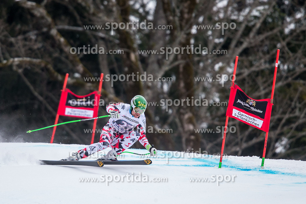 27.02.2015, Kandahar, Garmisch Partenkirchen, GER, FIS Weltcup Ski Alpin, Abfahrt, Herren, 2. Training, im Bild Klaus Kroell (AUT) // Klaus Kroell of Austria in action during the 2nd trainings run for the men's Downhill of the FIS Ski Alpine World Cup at the Kandahar course, Garmisch Partenkirchen, Germany on 2015/27/02. EXPA Pictures © 2015, PhotoCredit: EXPA/ Johann Groder