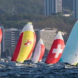 Rio 2016, Brazil Rio de Janeiro  August 2016 Guanabara Bay, 49er racing during the Rio 2016 Olympic Games