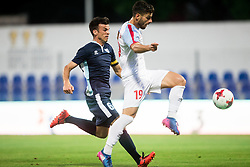 Miha Gregoric of Gorica vs Giorgos Masouras of Panionios GSS during 2nd Leg football match between ND Gorica (SLO) and Panionios GSS (GRE) in 2nd Qualifying Round of UEFA Europa League 2017/18, on July 20, 2017 in Nova Gorica, Slovenia. Photo by Vid Ponikvar / Sportida