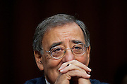 U.S. Defense Secretary LEON PANETTA testifies before a Senate Armed Services Committee hearing about security issues relating to Iraq.