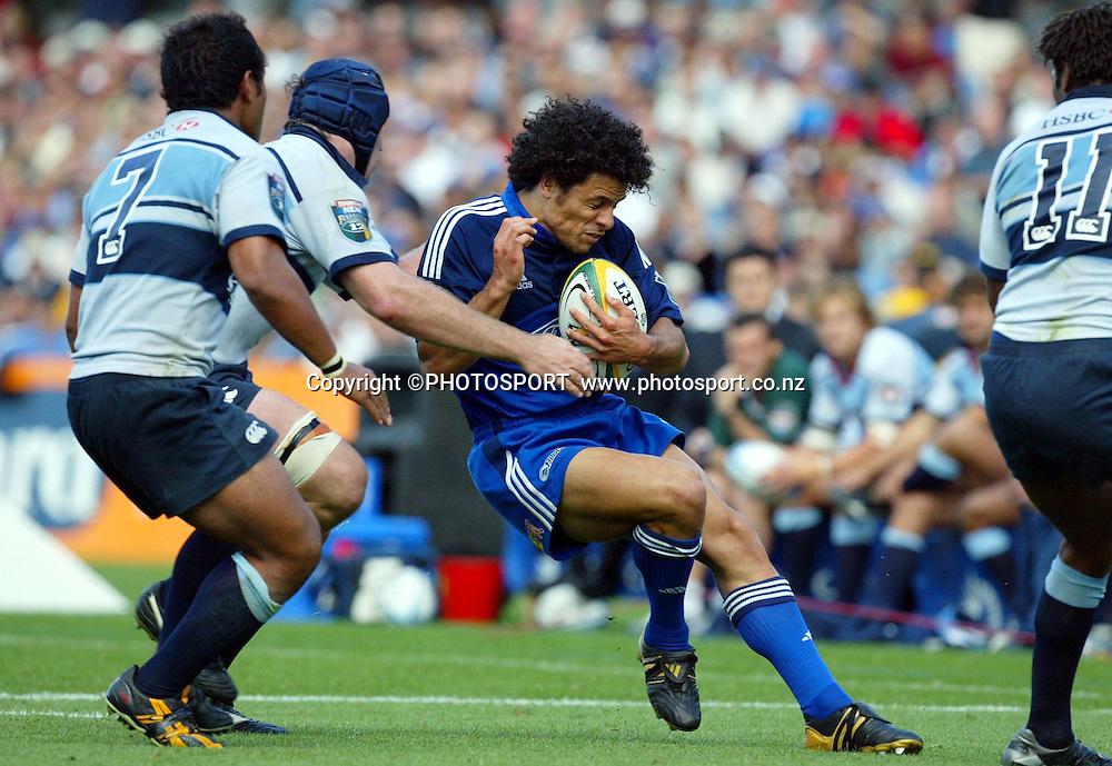 4 April, 2004, Eden Park, Auckland, New Zealand, Super 12 Rugby Union, Auckland Blues v NSW Warratahs.<br />Doug Howlett.<br />The Blues defeated the Warraths 22-17<br />Please credit: Andrew Cornaga/Photosport