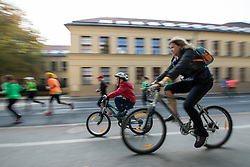 Athletes and cyclers during 22nd Ljubljana Marathon 2017 on October 29, 2017 in Ljubljana, Slovenia. Photo by Matic Klansek Velej / Sportida