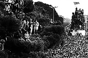 ALBANIA - Albanien - 1991 - First Democratic ELECTIONS - Public Election Rally by PD candidate Sali Berisha in Skhodra / Northern Albania; Erste freie Wahlen in Albanien; 03/1991 > copyright > Christian Jungeblodt