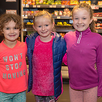 Ember Gilligan, Aisha Foudy and Elin Gilligan at the official opening of Gerraghty's Spar in Turnpike