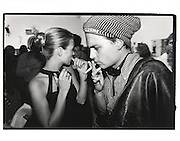 Kate Moss & Johnny Depp. Kate Moss book party. James Danziger Gallery. Prince St. New York. 11 September 1995.