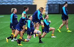 Worcester Valkyries players warm up ahead of kick off - Mandatory by-line: Nizaam Jones/JMP - 22/09/2018 - RUGBY - Sixways Stadium - Worcester, England - Worcester Valkyries v Richmond Women - Tyrrells Premier 15s