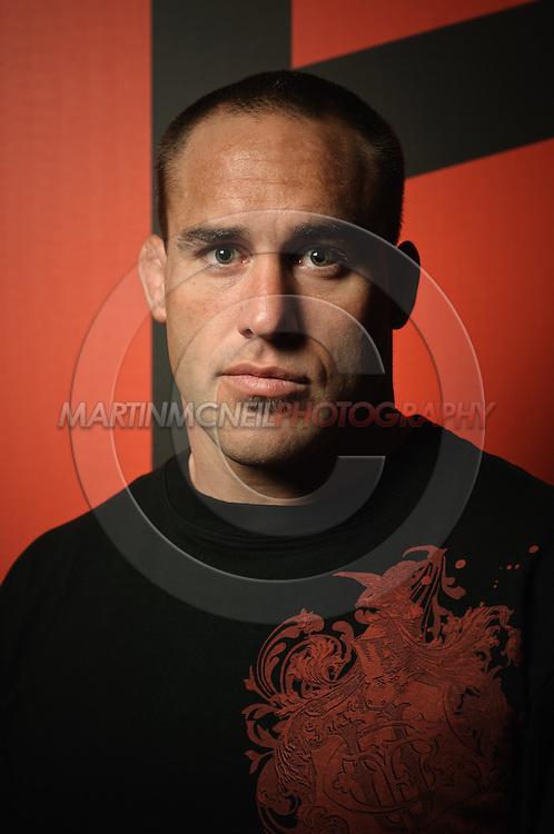 A portrait of mixed martial arts athlete Jason Lambert